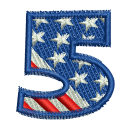 Star Spangled Number 5 Embroidery Shops Near Me
