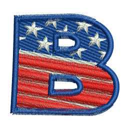 Star Spangled Letter B Embroidery For Beginners Patches