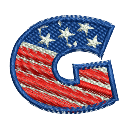 Star Spangled Letter G Embroidery On Clothes