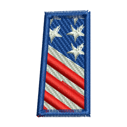 Star Spangled Letter I Embroidery On Clothes Heat Patches