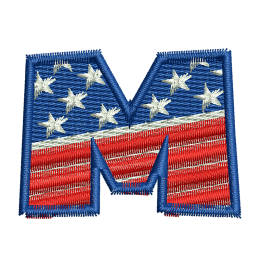 Star Spangled Letter M Embroideryonline Jean Patches