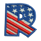 Star Spangled Letter R Embroidery Shop