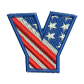 Star Spangled Letter Y Embroidery On Jeans