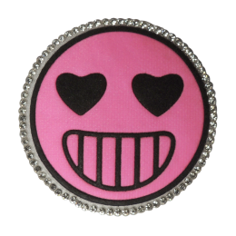 Pink Round Smile Emoji Face Applique