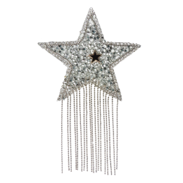 Rhinestone Bling Star with Tissue Heat Sealed Applique