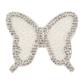 Bling Rhinestone and Pearl White Butterfly Applique for Bride