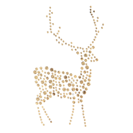 Fancy Metal Rhinestud Deer Motif for Shirts