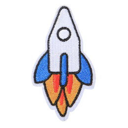 Little Rocket Embroidery Patch for Kids and Jeans