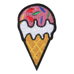 Strawberry Ice Cream Polyester Embroidery Patch