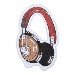 Trendy Headphone Motif Embroidery Patch