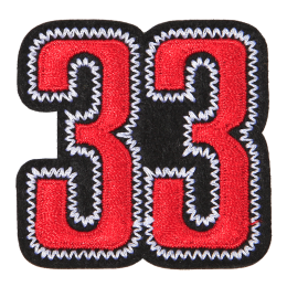 Special Red Number 33 Embroidery Patch