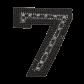 Black Seven Number Themed Applique Patch