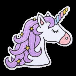 Cartoon Purple Unicorn Embroidery Patch