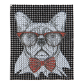 Gentle Bull Dog with Glasses Special Patch