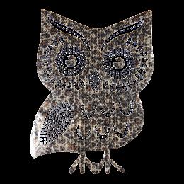 Large Sequin Vivid Owl Patch