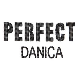 Sequin Pattern Perfect Danica Patch for Shirts