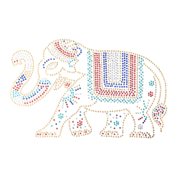 Metallic Indian Style Elephant Patch
