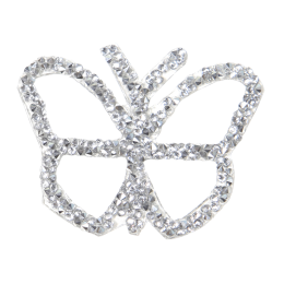 Crystal Rhinestone Butterfly Patch