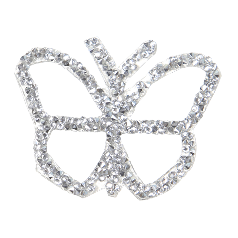 Crystal Rhinestone Butterfly Patch