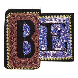 Trendy Embroidery Patch Be in Sequin and Metallic Thread