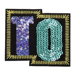 Trendy Embroidery Patch in Sequin
