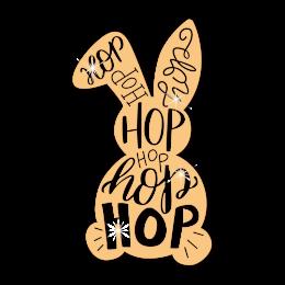 Letter Hop Rabbit Heat Transfer