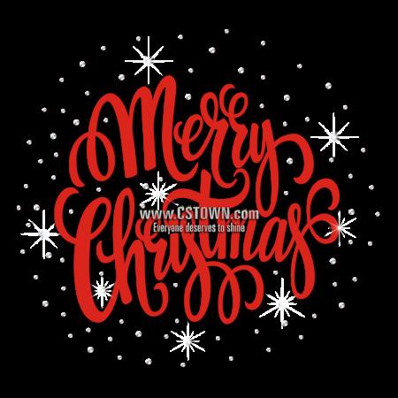 Red Christmas Themed Rhinestone Transfer for Shirts