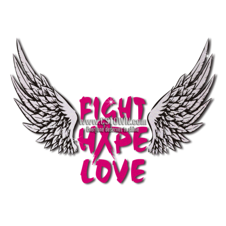 Fight Hope and Love Life Is Free and Joyful Heat Transfer