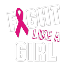 Fight Like A Girl Pink Ribbon Heat Transfer