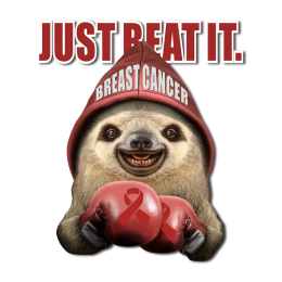 Just Beat It Keep on with the Cute Seal Breath Cancer Themed Transfer