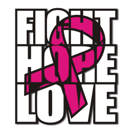 Fight Hope and Love Advanced PU Heat Transfer for Breast Cancer