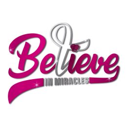 Believe in Miracles Pink Ribbon Themed Transfer for Breast Cancer