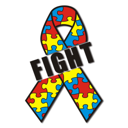 Custom Fight Cancer Colorful Ribbon Motif Heat Transfer for Clothes