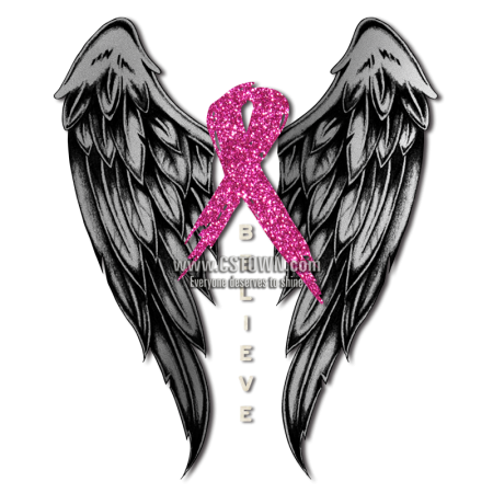 Believer With Wings Pink Ribbon For Breast Cancer Heat Transfer Cstown