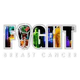 Fight Breast Cancer Colorful Glass Bottles as the Base Image Transfer