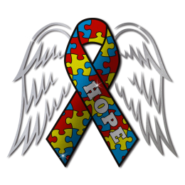 Colorful Ribbon for Cancer Awareness Hope with Wings Transfer