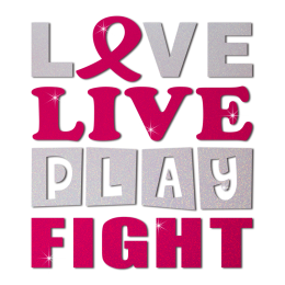 Stock Love Live Play Fight Pink Ribbon Heat Transfer