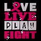 Stock Love Live Play Fight Pink Ribbon Heat Transfer