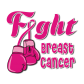 Fight Breast Cancer Pink Ribbon Themed Hot Press Desgin