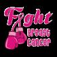 Fight Breast Cancer Pink Ribbon Themed Hot Press Desgin