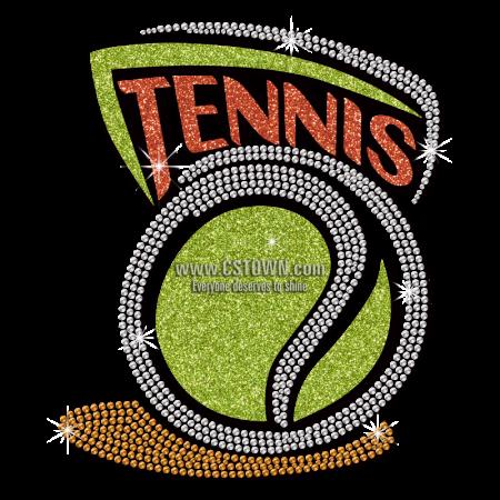 Sparkle Cartoon Tennis Custom Glitter Heat Press Transfer