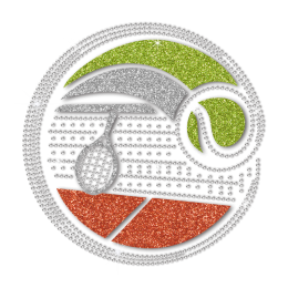 Special Tennis Pattern Creativity Glitter Transfer
