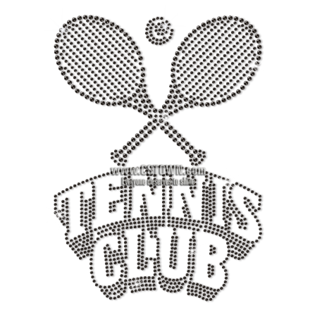 Bling Wholesale Tennis Club Rhinestone Transfer