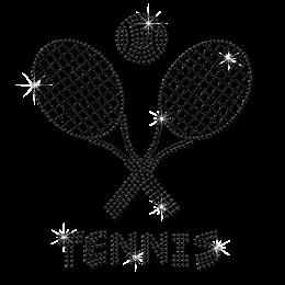 Custom Sparkle Tennis Rhinestone Transfer For Hoodies