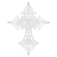 Clear Stone Iron on Cross Motif for t shirt