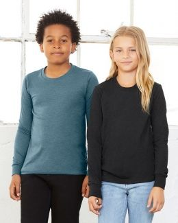 BELLA + CANVAS-Youth Jersey Long Sleeve Tee-3501Y