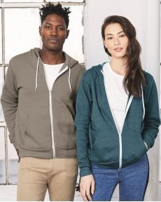 BELLA + CANVAS-Unisex Sponge Fleece Full-Zip Hoodie-3739