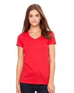 BELLA + CANVAS-Women's Jersey V-Neck Tee-6005