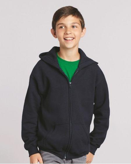 Gildan-Heavy Blend™ Youth Full-Zip Hooded Sweatshirt-18600B