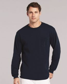Gildan-Ultra Cotton® Long Sleeve Pocket T-Shirt-2410